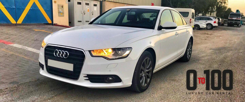 Audi A6 white color