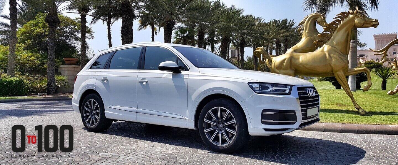 Audi Q7 in white color