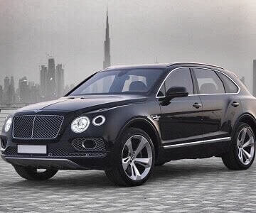 Bentley Bentayga in black color