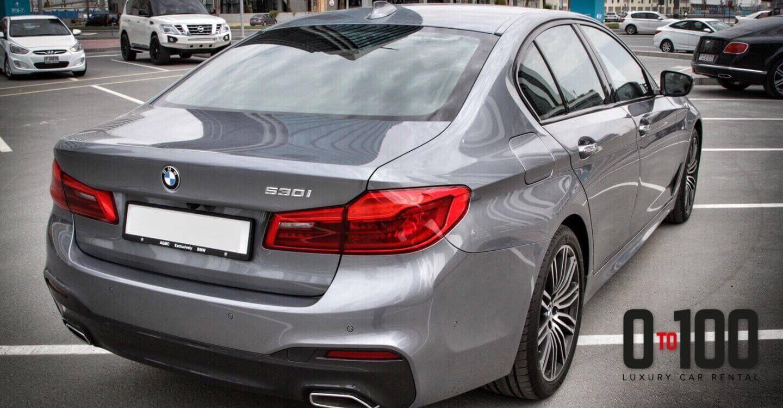 BMW 530i in grey color