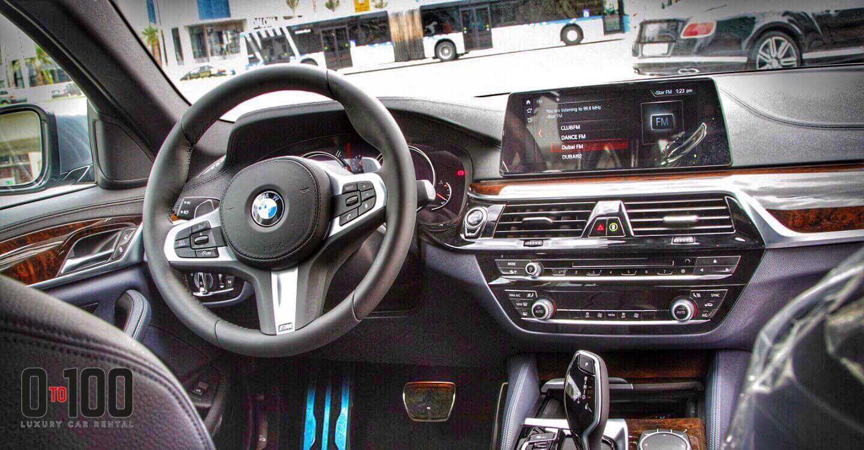 BMW 530i interior