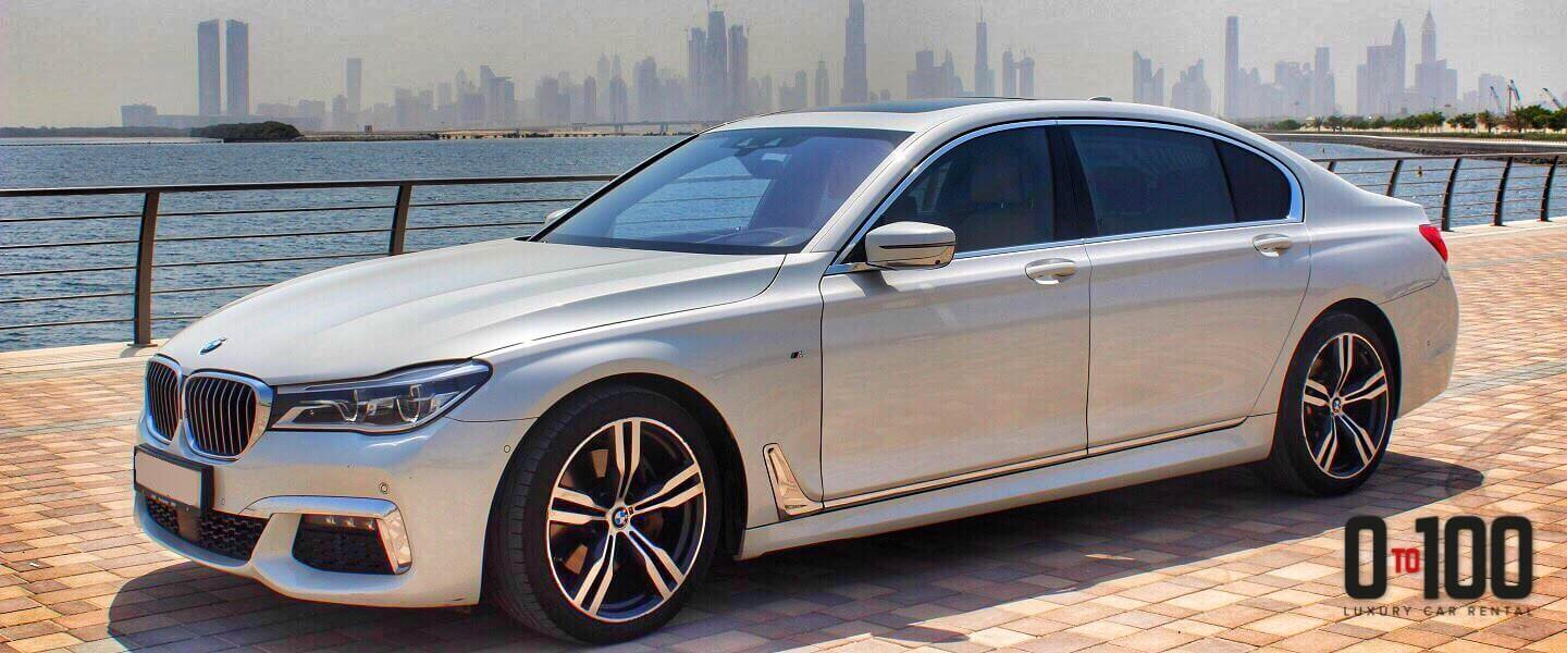 BMW 730 Li in white color