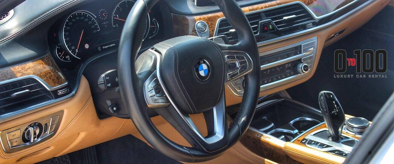 BMW 730 Li interior