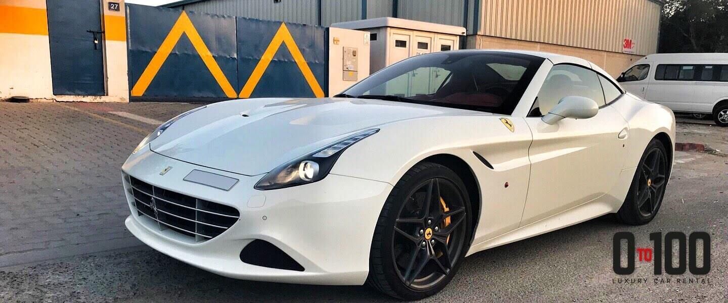Ferrari California cabriolet in white color