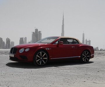 Bentley GTC (convertible) in red