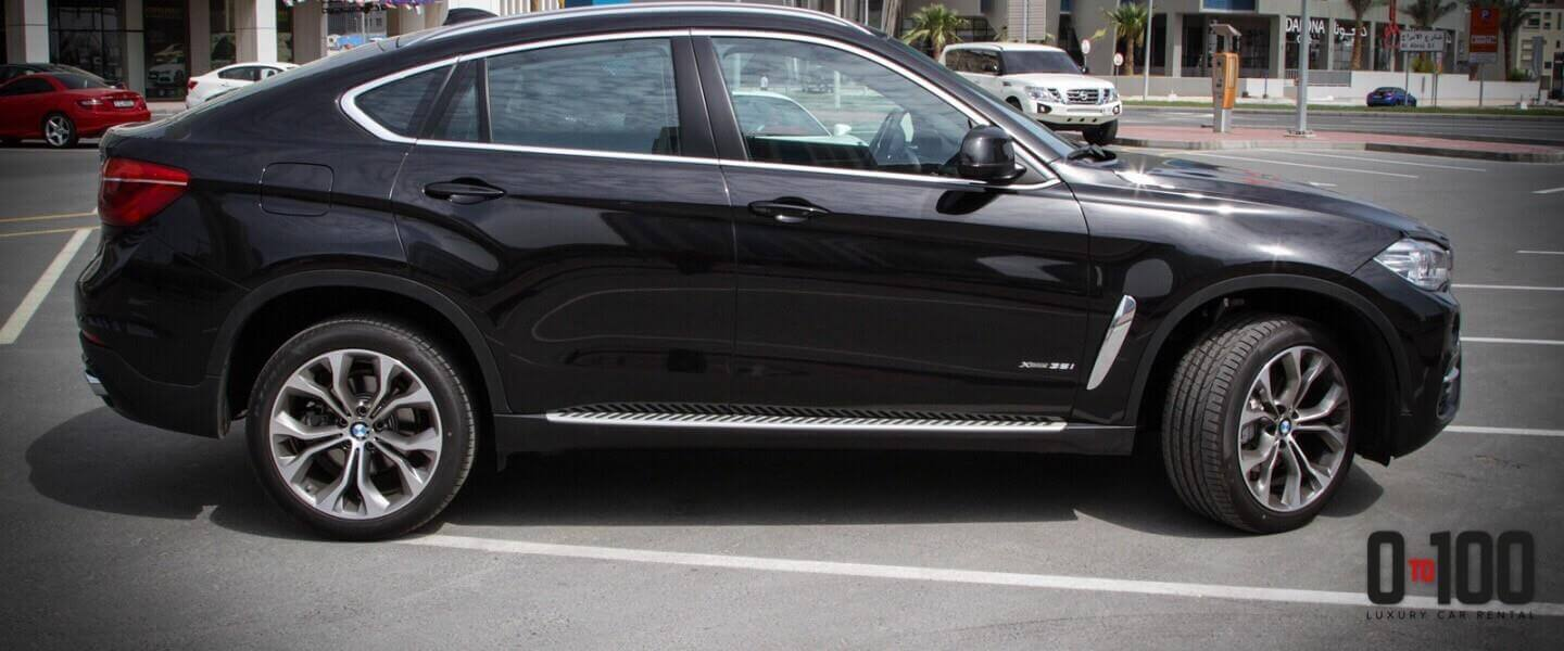 BMW X6 in black color