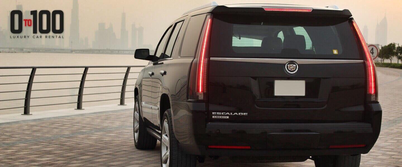 Cadillac Escalade in black color