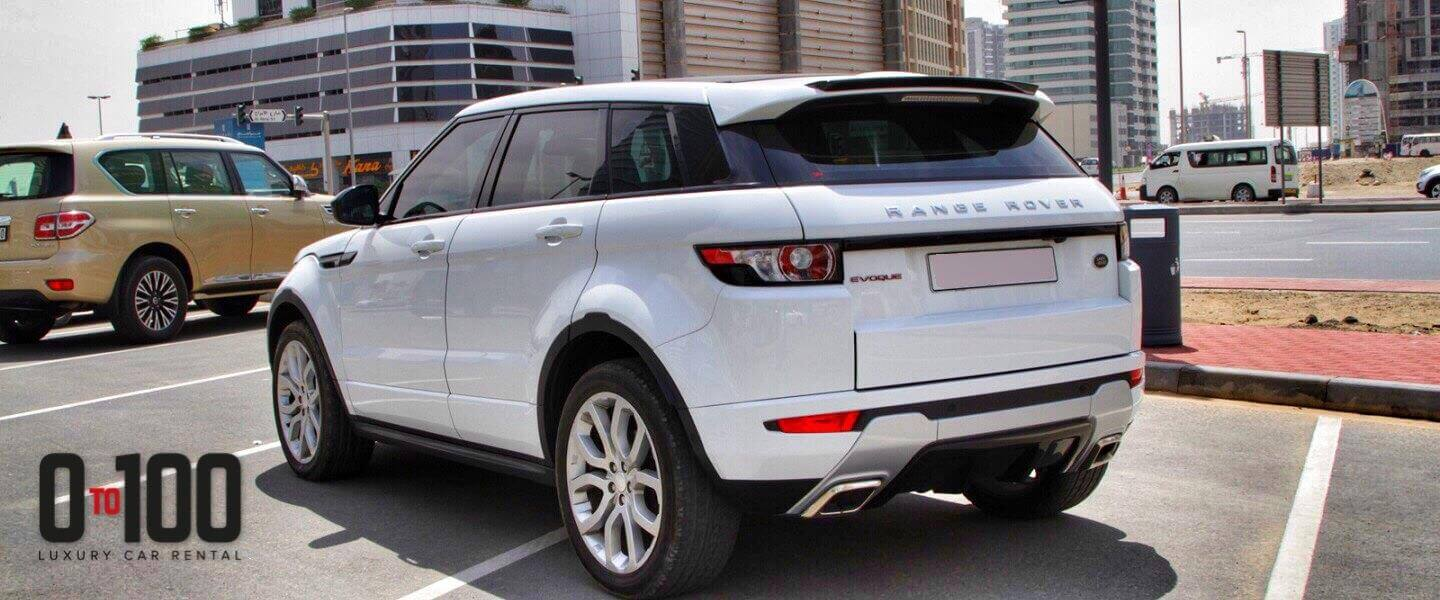 Range Rover Evoque cabriolet in white color