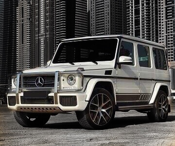 Mercedes-Benz G63 AMG in white color