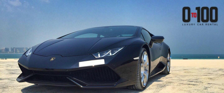 Lamborghini Huracan in black color