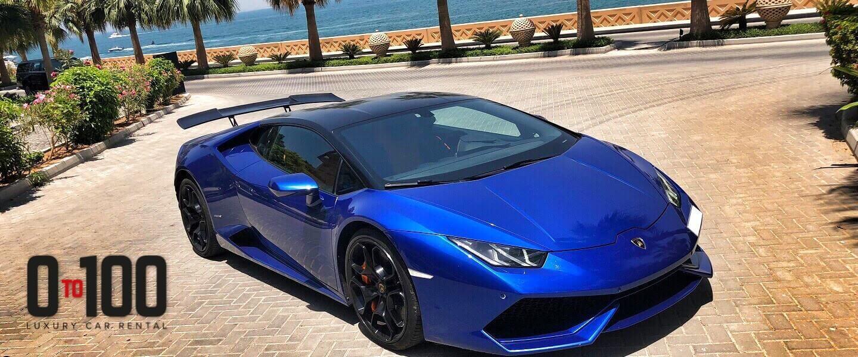 Lamborghini Huracan Rental In Dark Blue Color