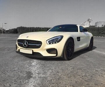 Mercedes-Benz GTS in white color