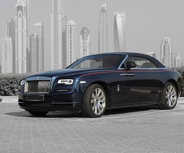 Rolls-Royce Dawn in blue