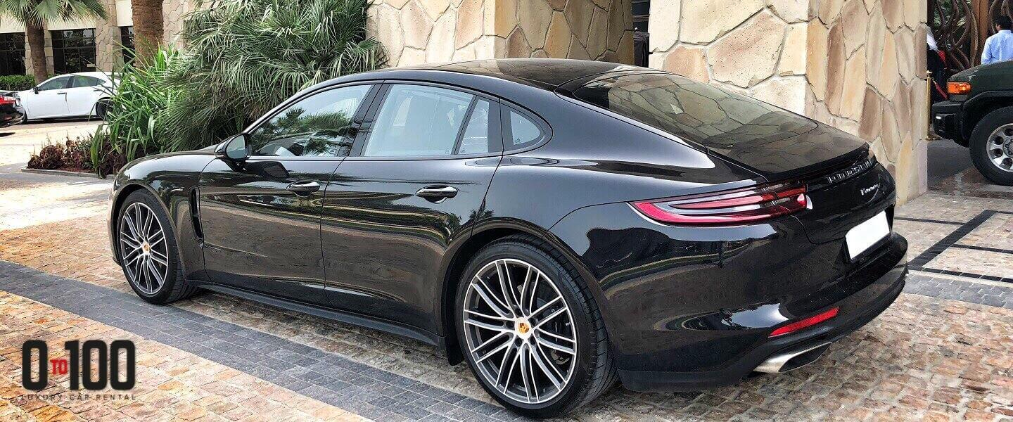 Porsche Panamera in black color