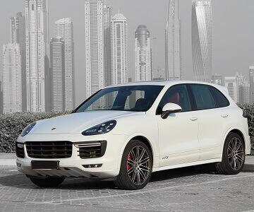 Porsche Cayenne GTS in white color