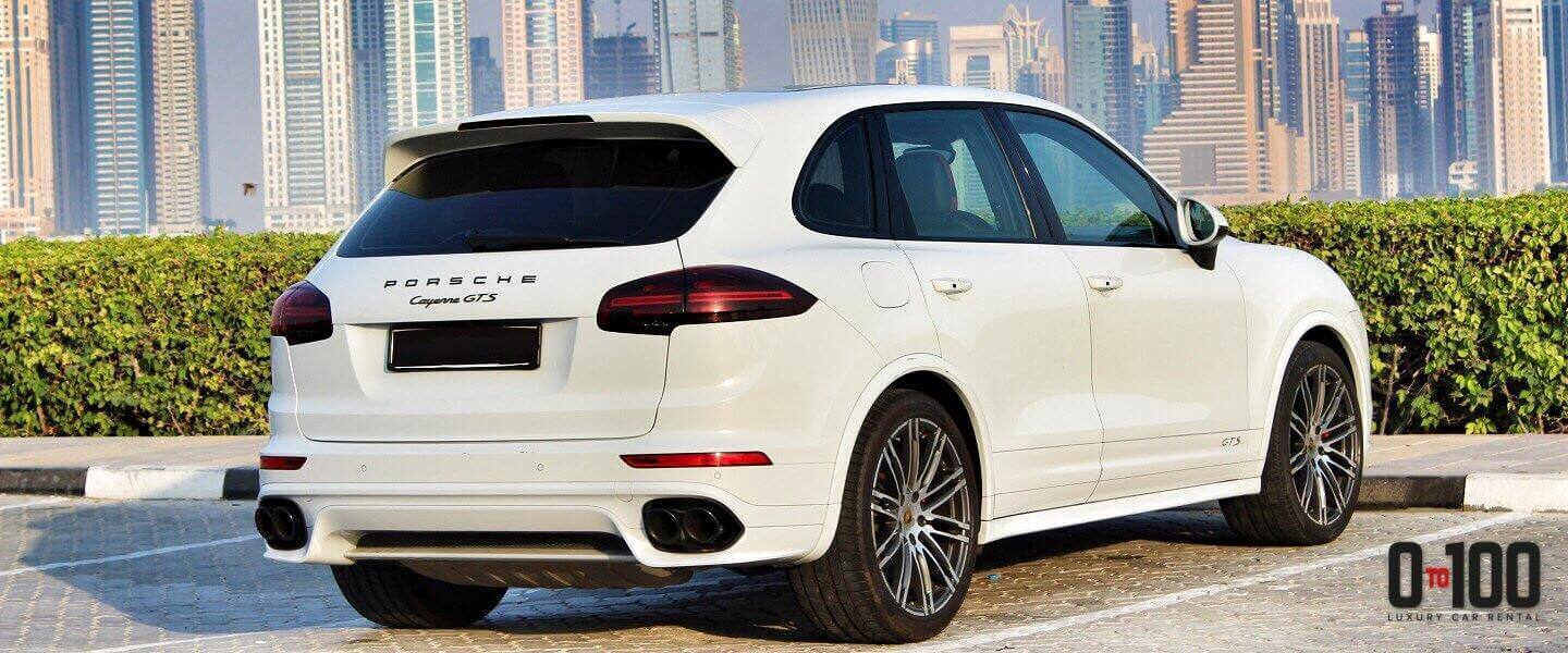 Porsche Cayenne GTS white color