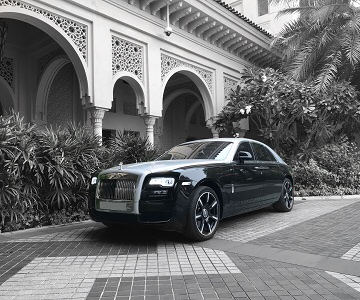 Rolls-Royce Ghost II в черном цвете