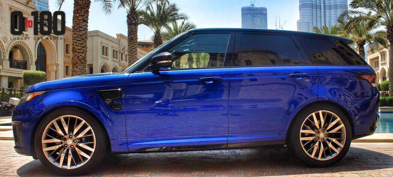 رينج روفر SVR باللون الأزرق