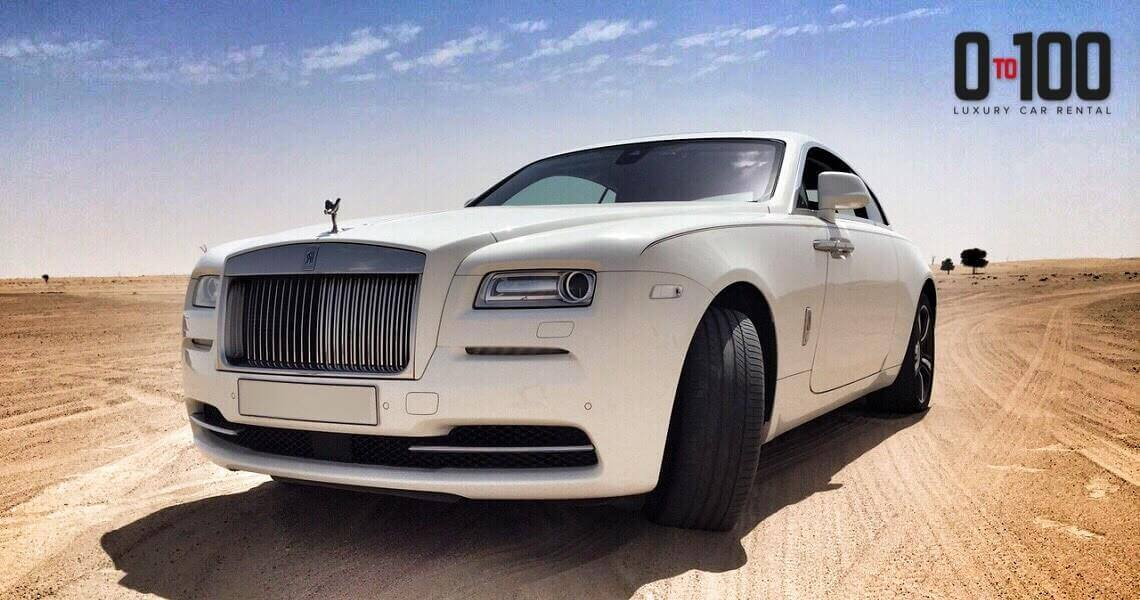 Rolls-Royce Wraith in white color