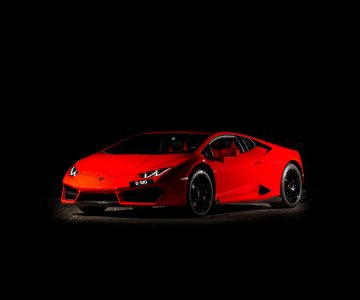 Lamborghini Huracan в красном цвете