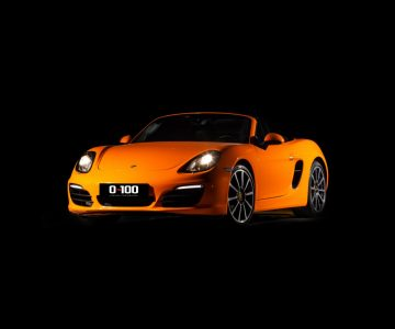 Porsche Boxster in orange