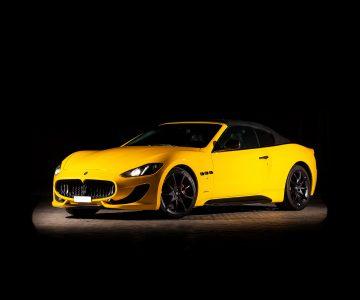 Maseratti Grancabrio in yellow