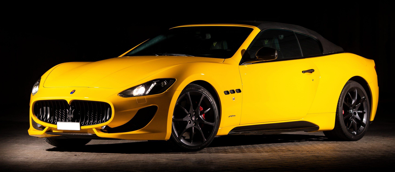 Maserati GranCabrio желтого цвета