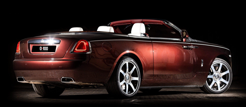 Rolls-Royce Dawn бордовый