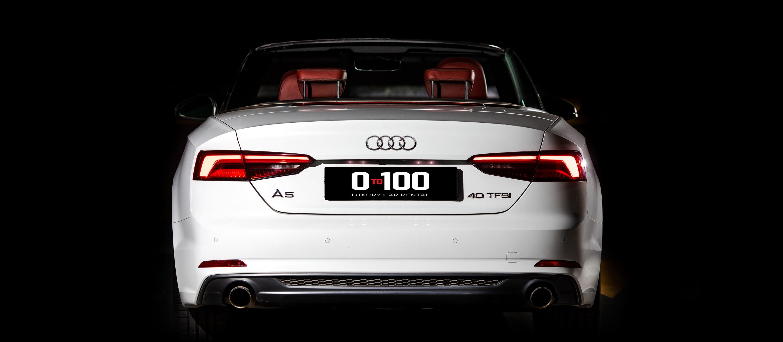 Audi A5 Cabrio белого цвета