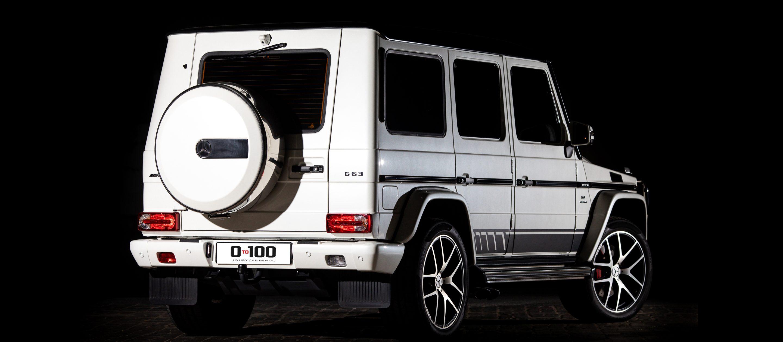 مرسيدس بنز G63 AMG بيضاء اللون