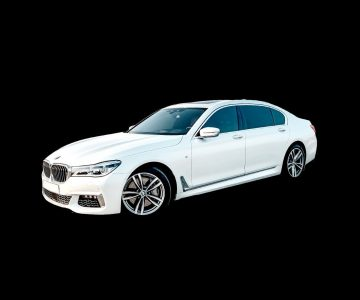 BMW 750Li in white color