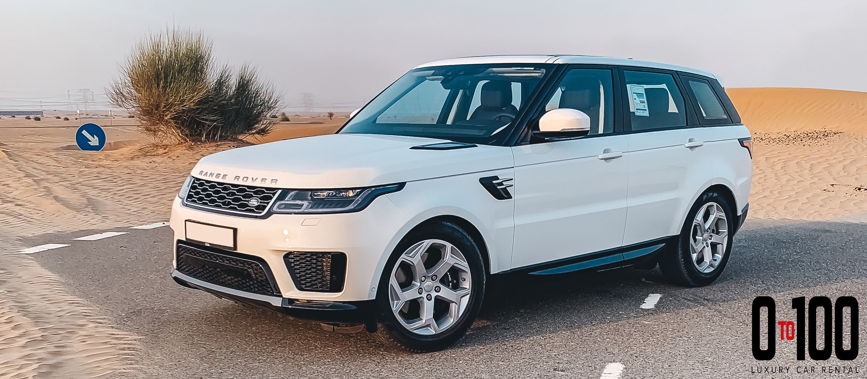 Range Rover Sport in white color